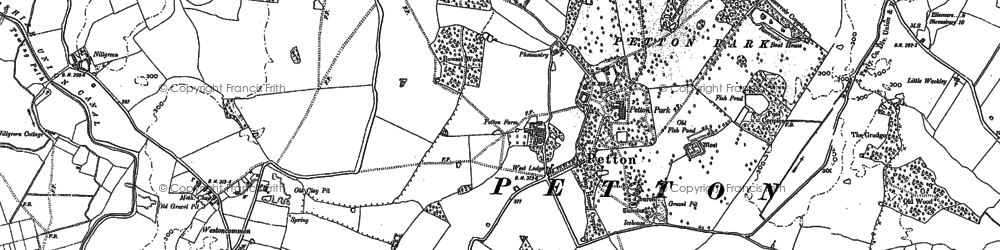 Old map of Weston Ho in 1880