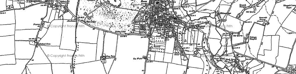 Old map of Petworth in 1896