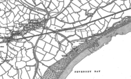 Old Map of Pevensey Bay, 1908