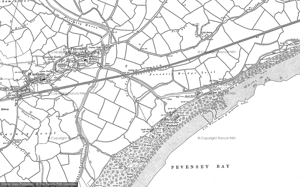 Map of Pevensey Bay, 1908