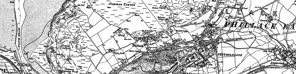 Old map of The Towans in 1877