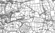 Old Map of Pibsbury, 1885 - 1886