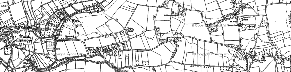 Old map of Ablake in 1885