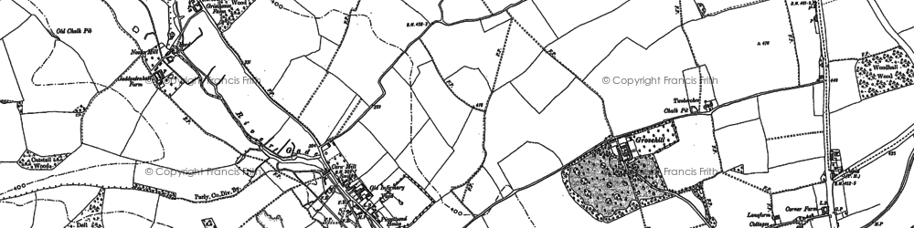 Old map of Grovehill in 1897