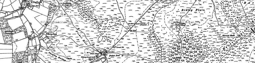 Old map of Backley Plain in 1895