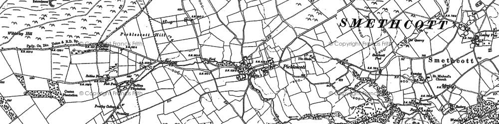 Old map of Wilderley Hill in 1882