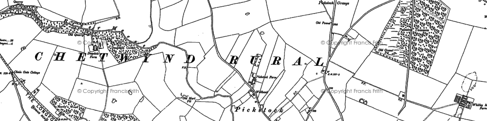Old map of Lane End in 1880