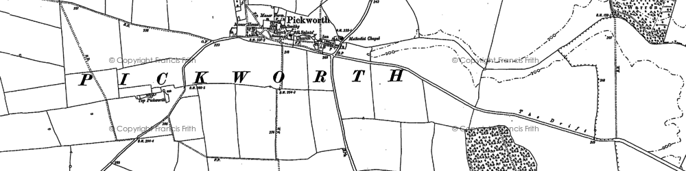 Old map of Lincolnshire Gate in 1886
