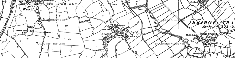 Old map of Ash Hey in 1897