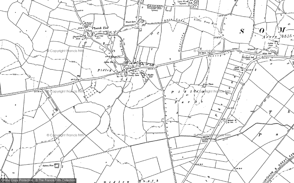 Old Map of Pidley, 1900 in 1900