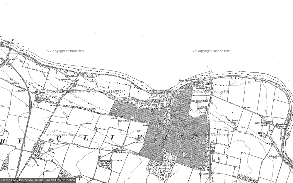 Old Map of Historic Map covering Allan's Grange in 1912