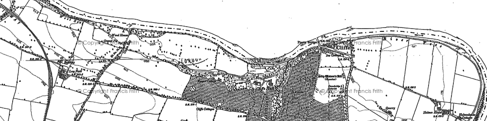 Old map of White Cross in 1912