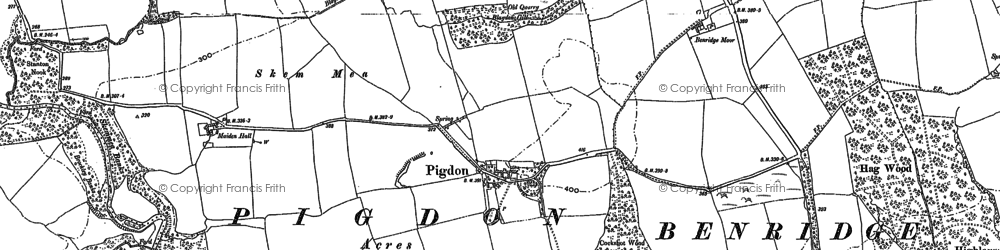 Old map of Todd Hill in 1896