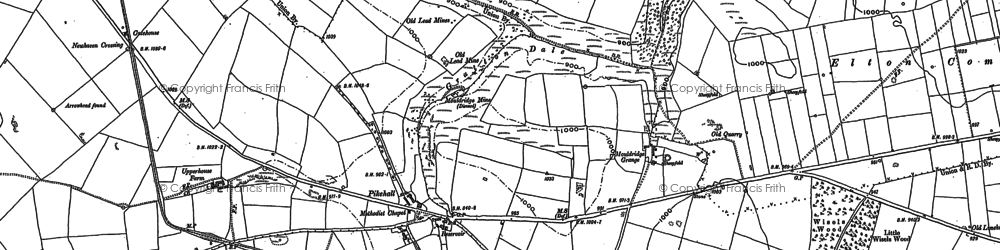 Old map of Astonhill in 1879