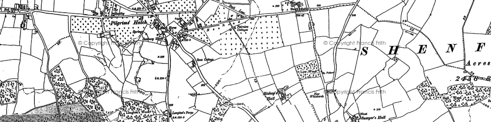 Old map of Ashwells in 1895