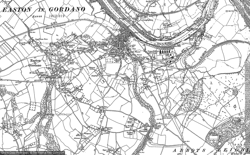 Old Map of Pill, 1902 in 1902