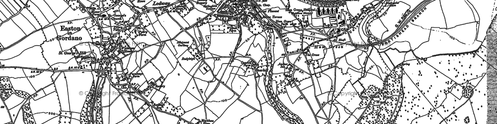 Old map of Pill in 1902