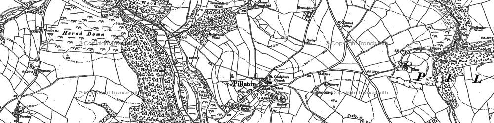 Old map of Pillaton in 1865