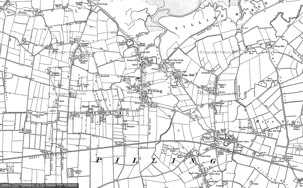 Old Map of Pilling, 1909 - 1930 in 1909