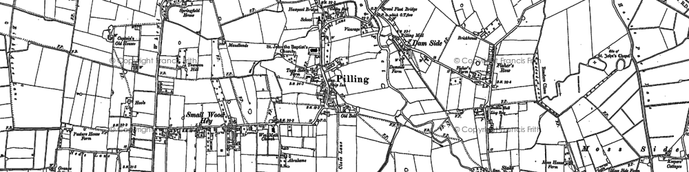 Old map of Pilling in 1909
