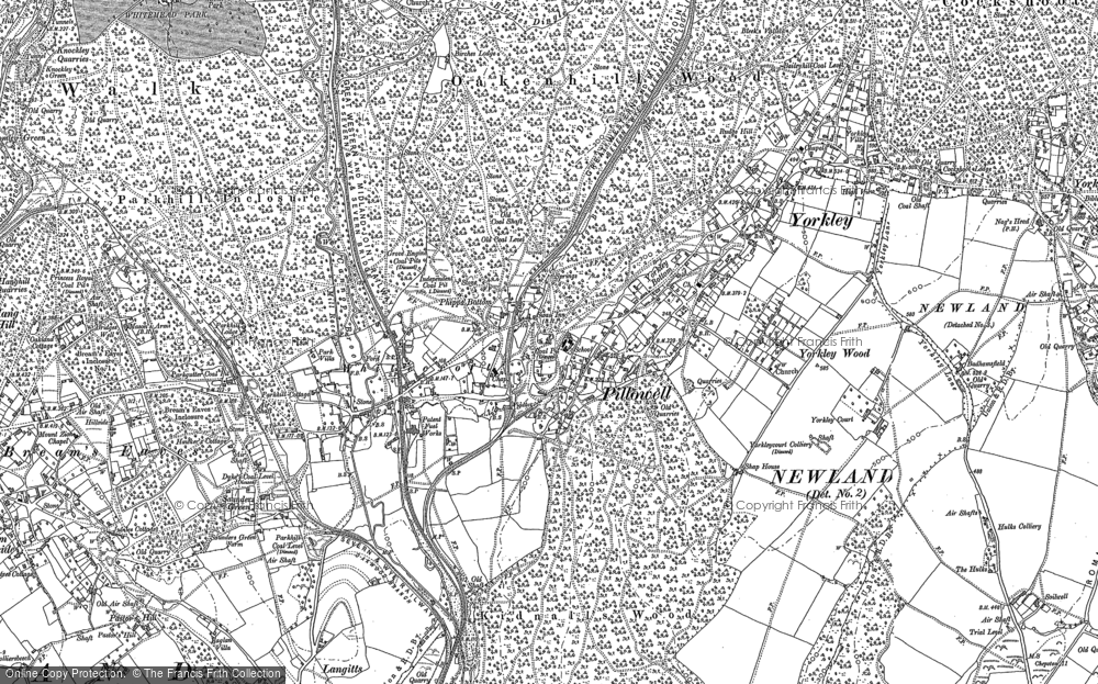Old Map of Pillowell, 1879 - 1880 in 1879