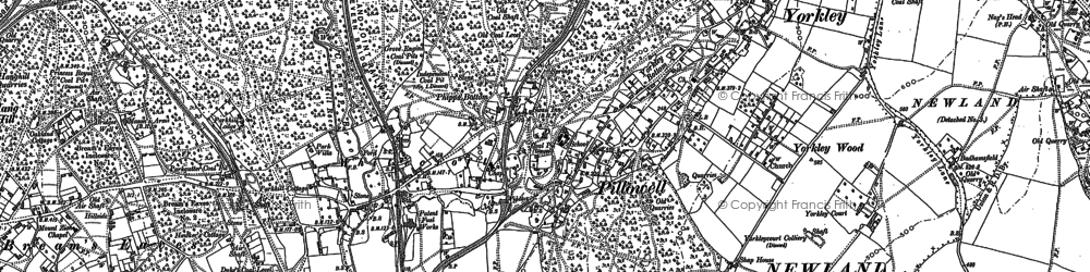 Old map of Pillowell in 1879