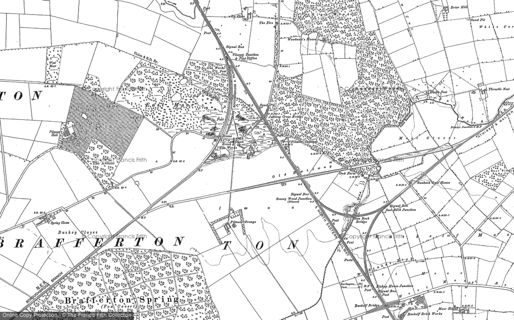 Old Map of Historic Map covering Woodman's Ho in 1890