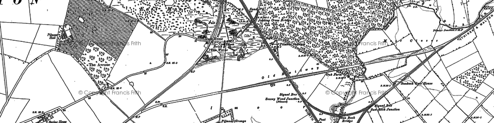 Old map of Woodman's Ho in 1890