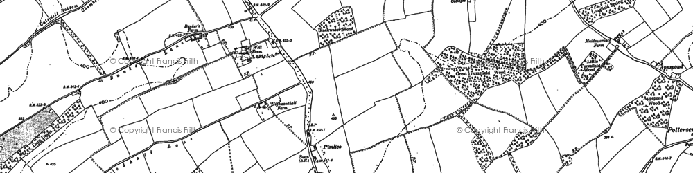 Old map of Westwick Row in 1896