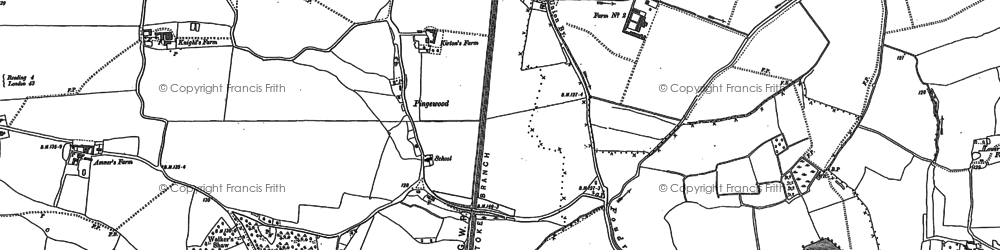 Old map of Whitley in 1898