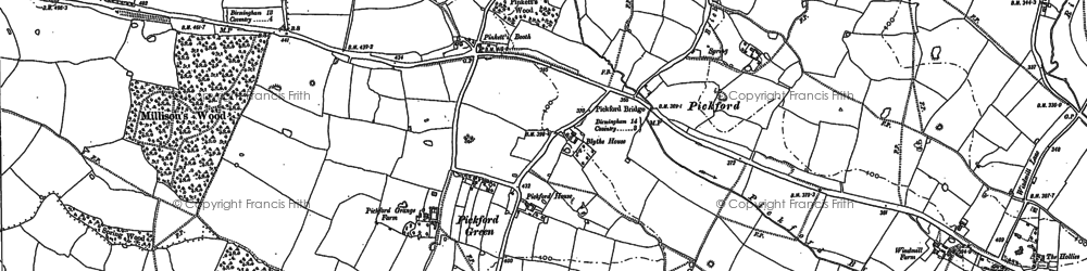 Old map of Alspath Hall in 1886