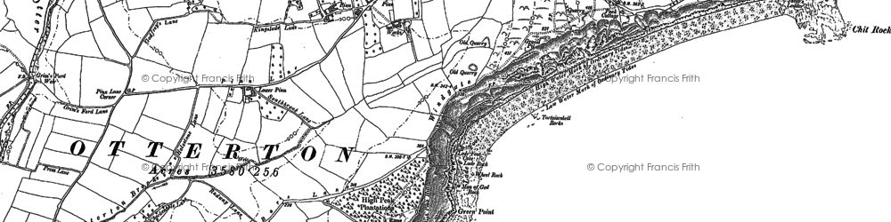 Old map of Windgate in 1903