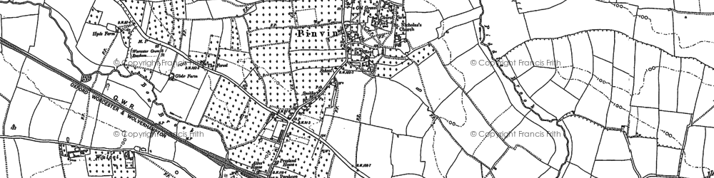 Old map of Wyre Mill in 1884