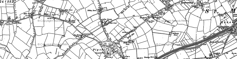 Old map of Aldershawe in 1882