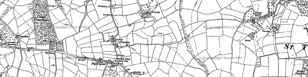 Old map of Westdownend in 1882