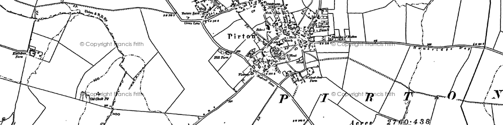 Old map of Burge End in 1899
