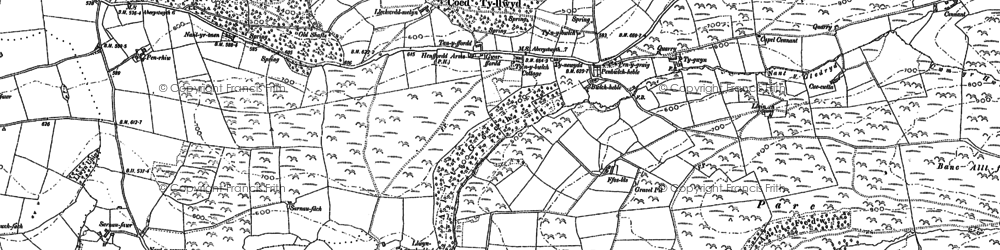 Old map of Allt-fedw in 1886