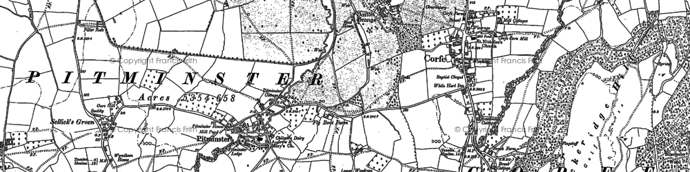 Old map of Pitminster in 1903