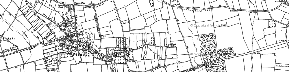 Old map of Whiscombe Hill in 1885