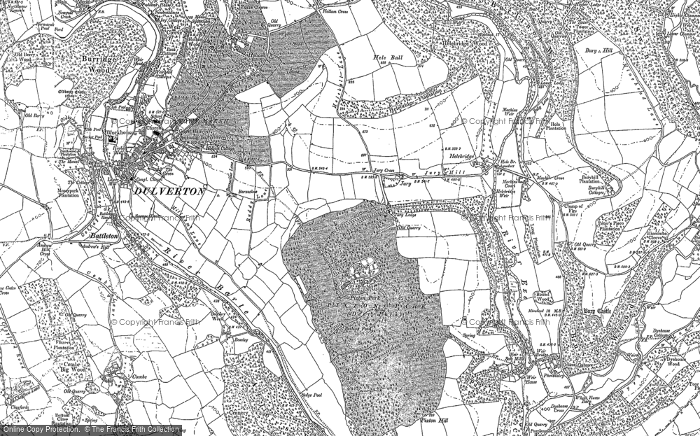 Old Map of Historic Map covering Allers Wood in 1902