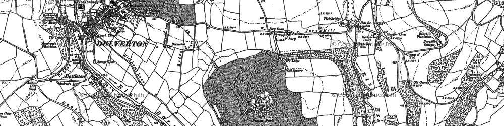 Old map of Allers Wood in 1902