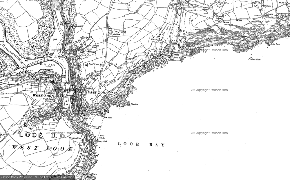 Old Map of Historic Map covering Limmicks in 1881