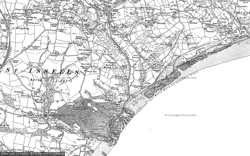 Old Map of Historic Map covering Woodside in 1906