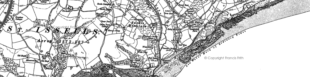 Old map of Wisemans Bridge in 1906