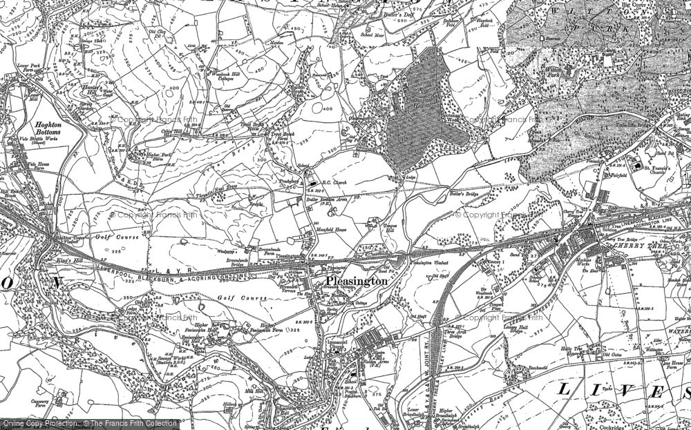 Old Map of Historic Map covering Woodcock Hill in 1892