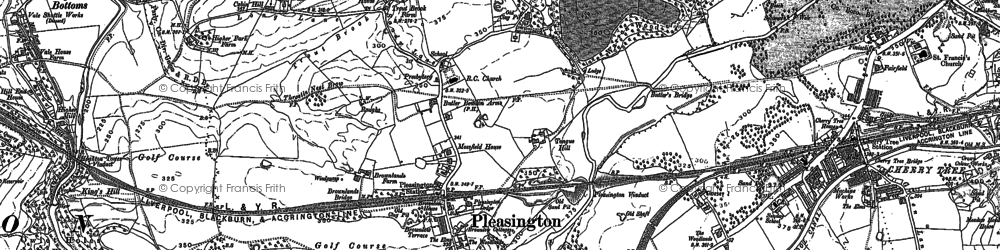 Old map of Woodcock Hill in 1892