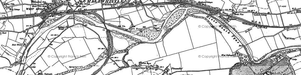 Old map of Todhillwood Fell in 1895