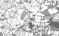 Old Map of Pluckley, 1896