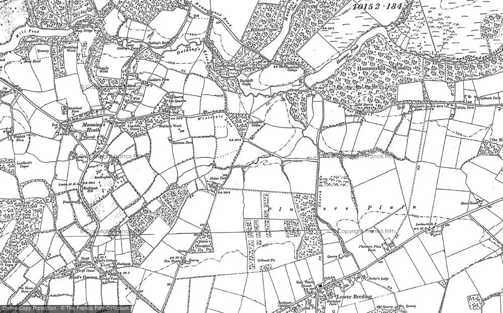 Old Map of Historic Map covering Ashfold Crossways in 1895
