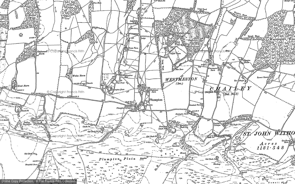Old Map of Plumpton, 1896 - 1897 in 1896